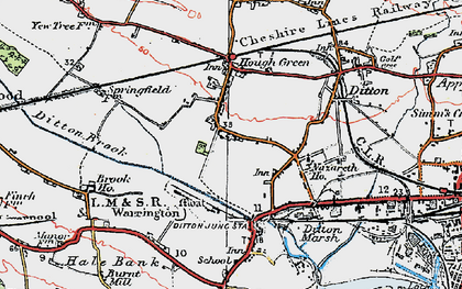 Old map of Ditton in 1924