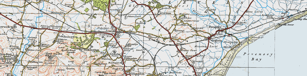Old map of 1066 Country Walk in 1920