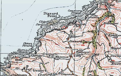 Old map of Dizzard in 1919