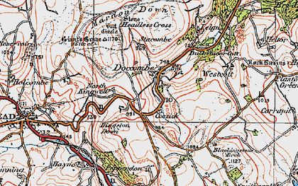 Old map of Wooston in 1919