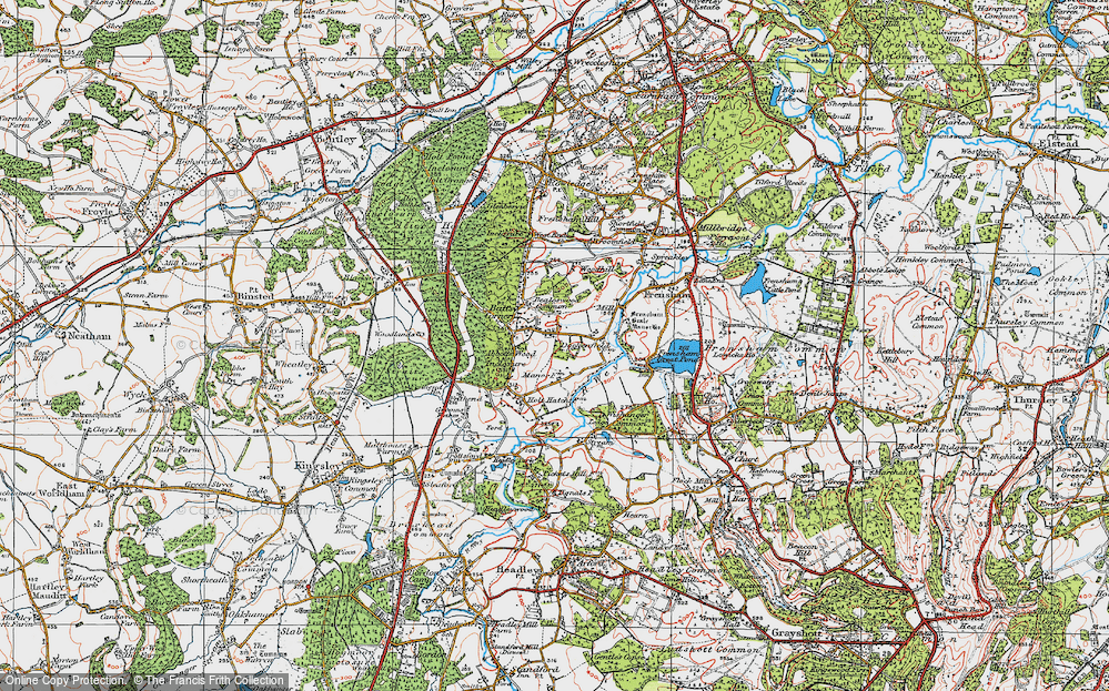 Old Map of Historic Map covering Abbots Wood Inclosure in 1919