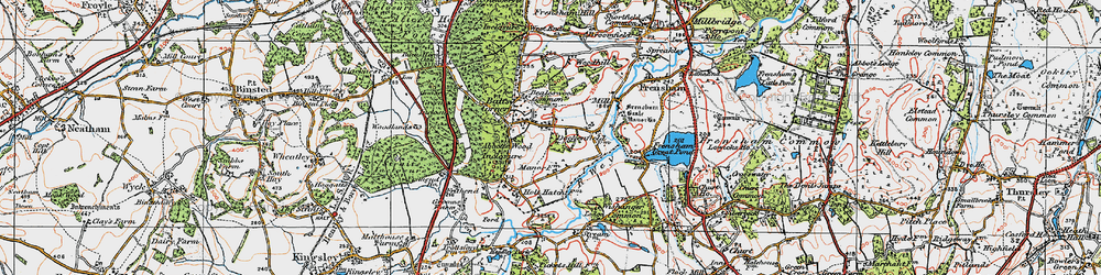 Old map of Wishanger Lodge in 1919