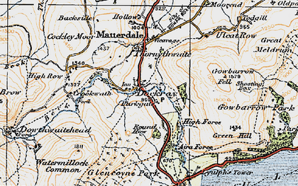 Old map of Aira Point in 1925