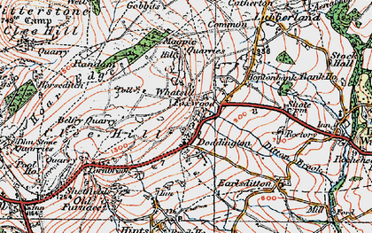Old map of Clee Hill in 1921