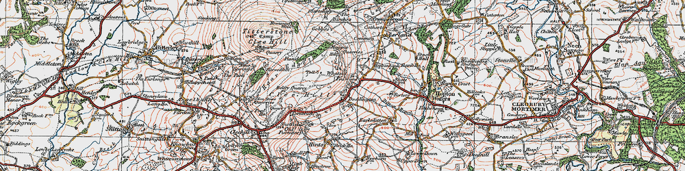 Old map of Whatsill in 1921