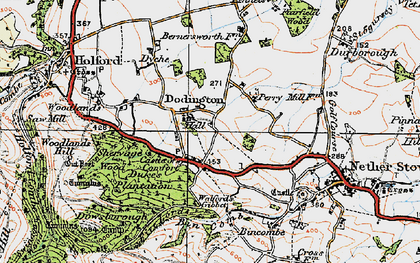 Old map of Dodington in 1919