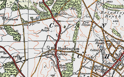 Old map of Badger Slade Wood in 1921