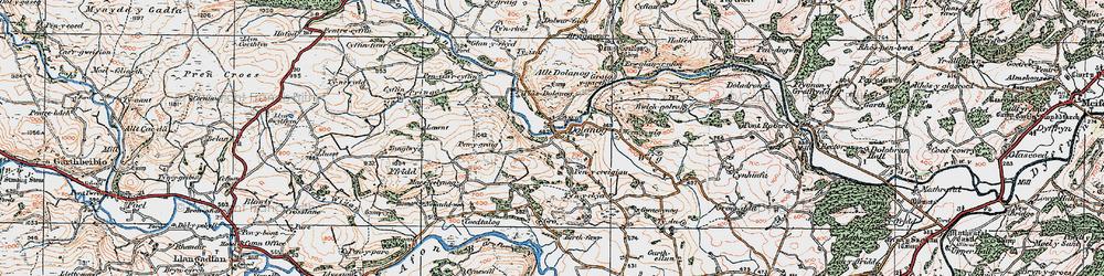 Old map of Allt Dolanog in 1921