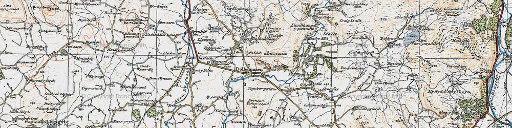 Old map of Dolbenmaen in 1922