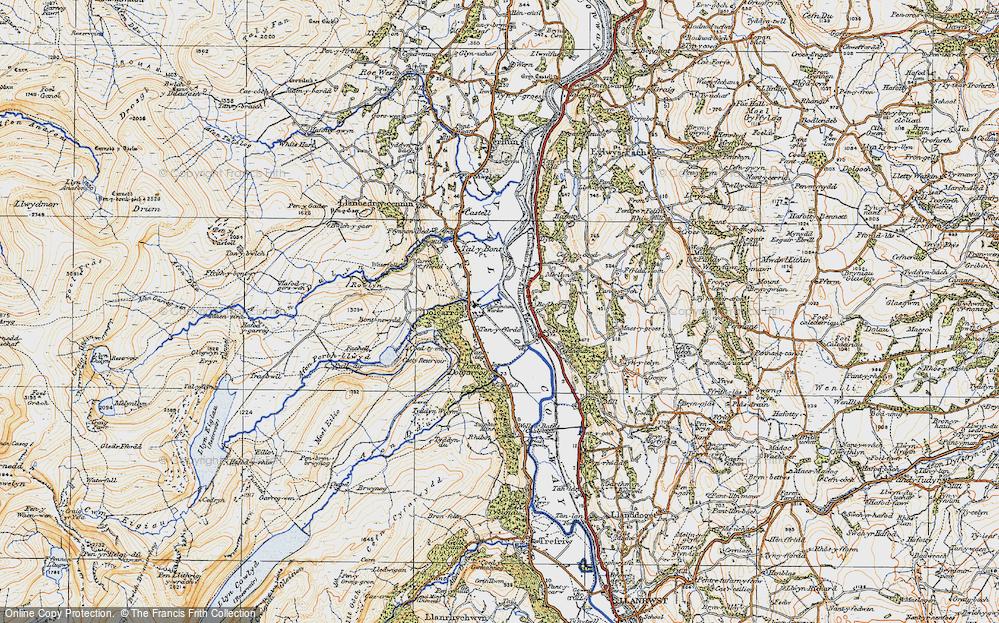Old Map of Dolgarrog, 1922 in 1922