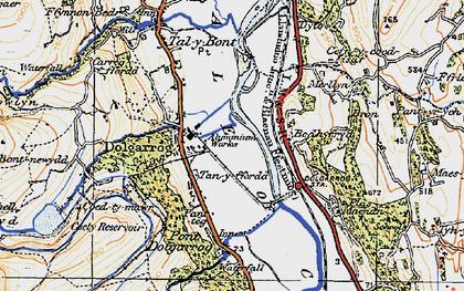 Old map of Dolgarrog in 1922