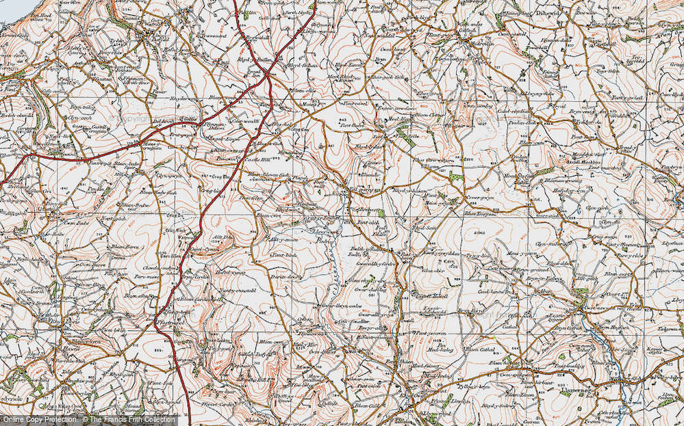 Old Map of Historic Map covering Alltmaen in 1923