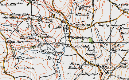 Old map of Alltmaen in 1923