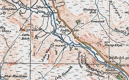 Old map of Banc Dolhelfa in 1922