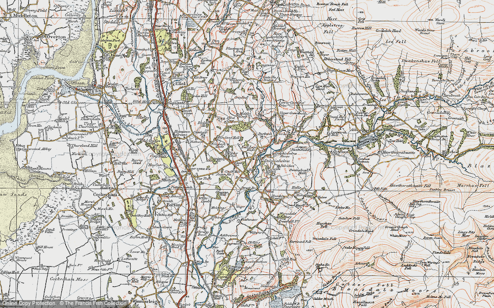 Old Map of Dolphinholme, 1924 in 1924