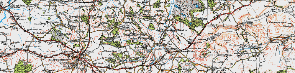 Old map of Wincombe in 1919