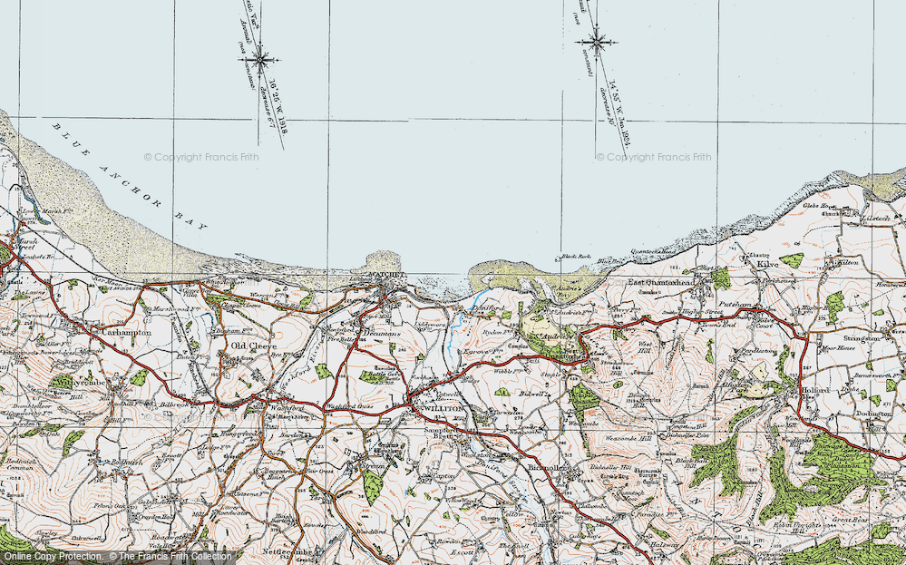 Old Map of Doniford, 1919 in 1919