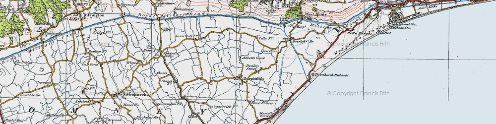 Old map of Abbott's Court in 1920