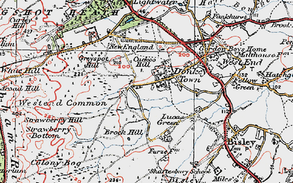 Old map of Donkey Town in 1920