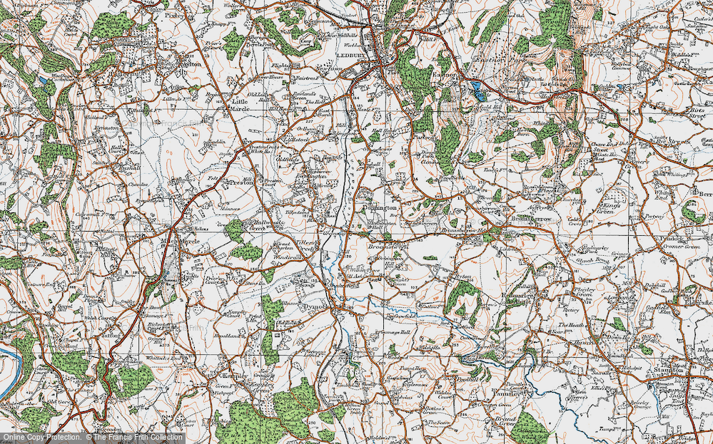 Old Map of Historic Map covering Tillputsend Cott in 1919