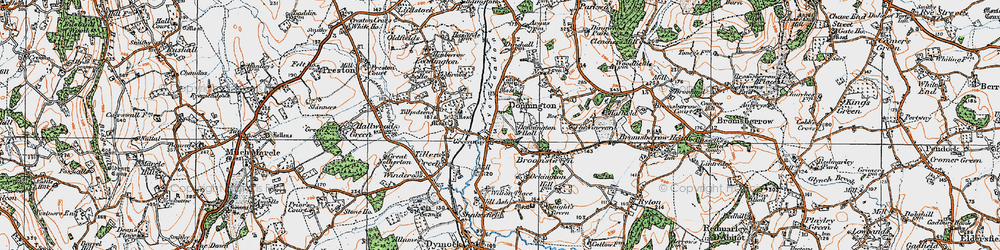 Old map of Tillputsend Cott in 1919