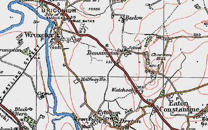 Old map of Donnington in 1921