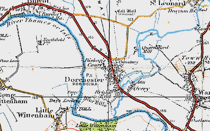 Old map of Dorchester in 1919