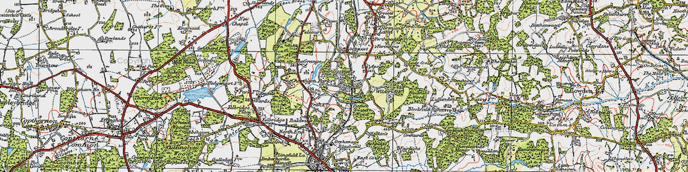 Old map of Wilderwick Ho in 1920