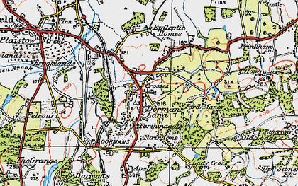 Old map of Dormansland in 1920