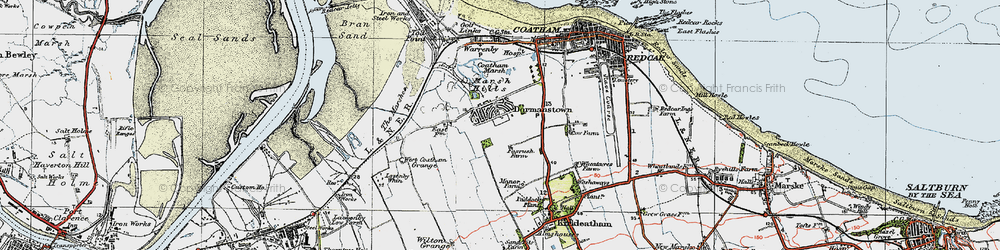 Old map of Dormanstown in 1925