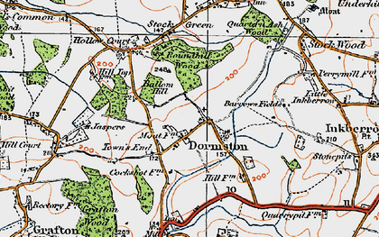 Old map of Ballom Hill in 1919