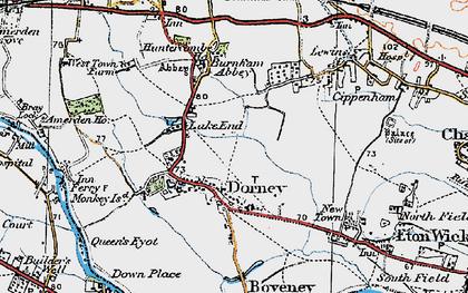 Old map of Dorney in 1920