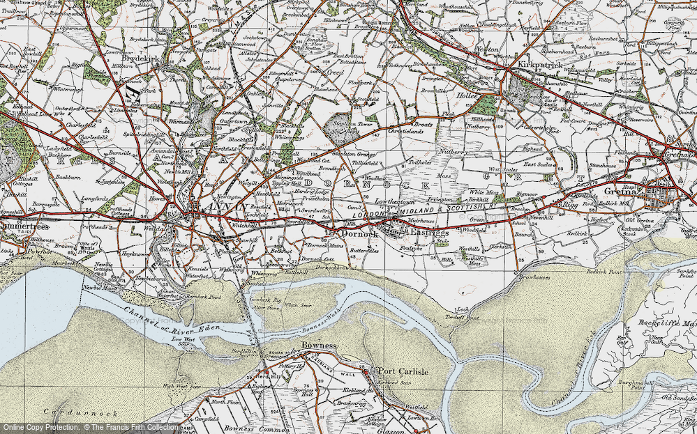 Old Map of Historic Map covering Woodhall in 1925