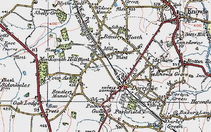 Old map of Dorridge in 1921