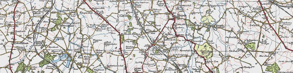 Old map of Dorridge in 1921