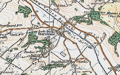 Old map of Arthur's Stone in 1920