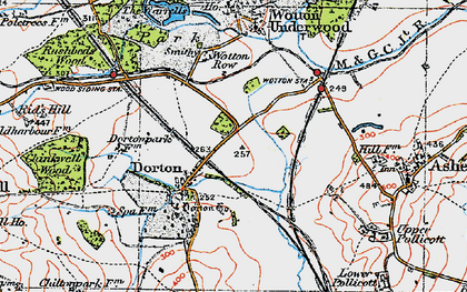 Old map of Ashfold School in 1919