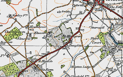 Old map of Doughton in 1919