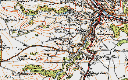 Old map of Downend in 1919