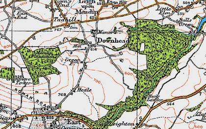 Old map of Asham Wood in 1919