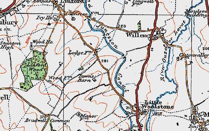 Old map of Willen Park in 1919