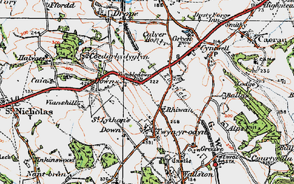 Old map of Balas in 1919