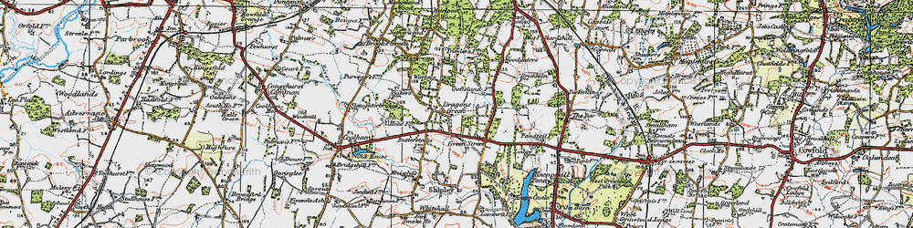 Old map of Woodgetters in 1920