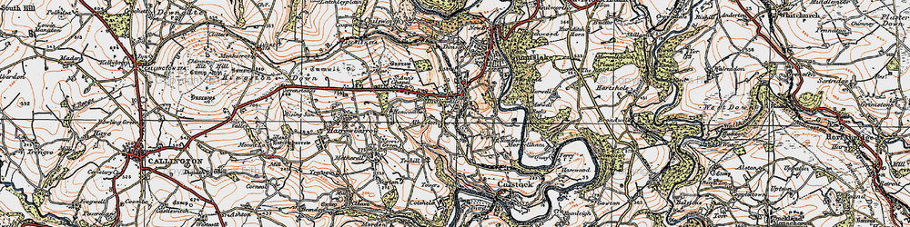 Old map of Albaston in 1919
