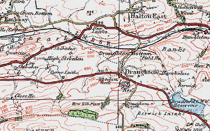 Old map of Wheelam Rock in 1925