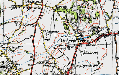 Old map of Draycot Cerne in 1919