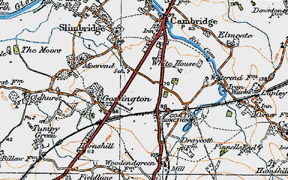 Old map of Draycott in 1919