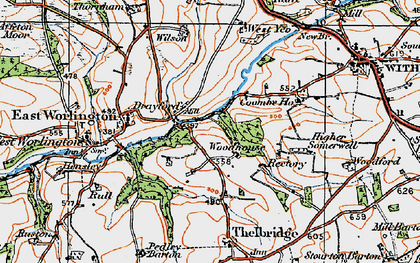 Old map of West Yeo in 1919