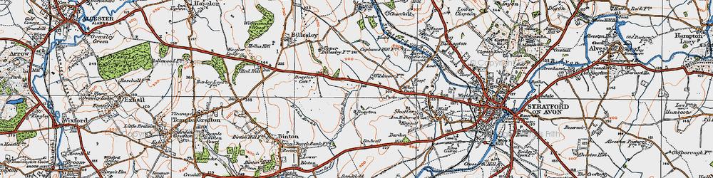 Old map of Wildmoor, The in 1919