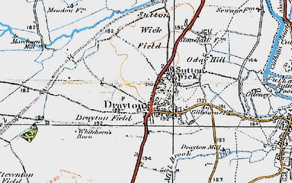 Old map of Drayton in 1919